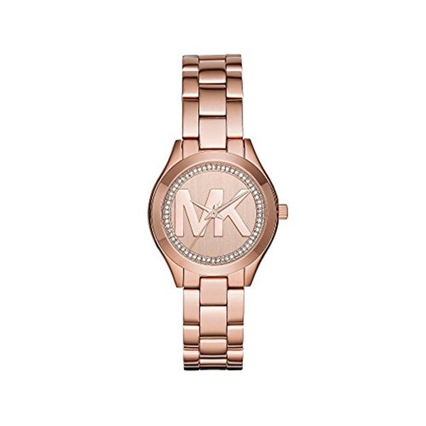 マイケルコース Michael Kors レディース 腕時計 時計 Michael Kors Mini Slim Runway Rose Goldtone Three Hand Watch