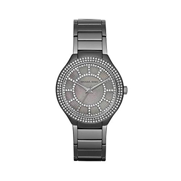 マイケルコース Michael Kors レディース 腕時計 時計 Michael Kors Women's Silvertone Gunmetal Kerry Watch With A Grey Mother Of Pearl Dial
