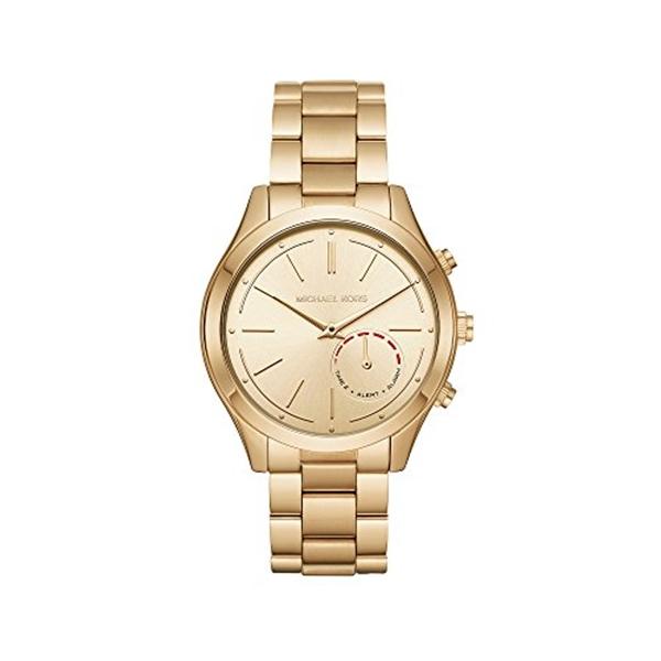 マイケルコース Michael Kors レディース 腕時計 時計 Michael Kors Women's 42mm Slim Runway Goldtone Hybrid Smartwatch