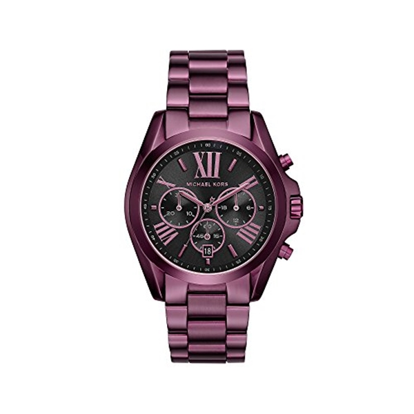 マイケルコース Michael Kors レディース 腕時計 時計 Michael Kors Women's 'Bradshaw' Quartz Stainless Steel Casual Watch, Color:Purple (Model: MK6398)