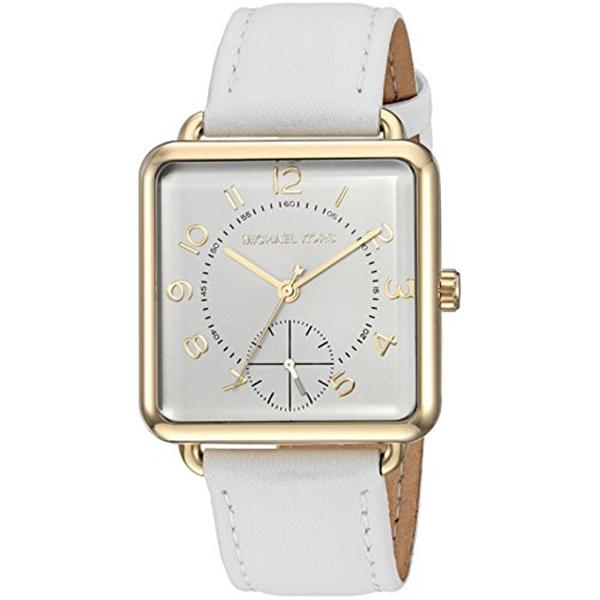 マイケルコース Michael Kors レディース 腕時計 時計 Michael Kors Women's Quartz Stainless Steel and Leather Casual Watch, Color:White (Model: MK2677)