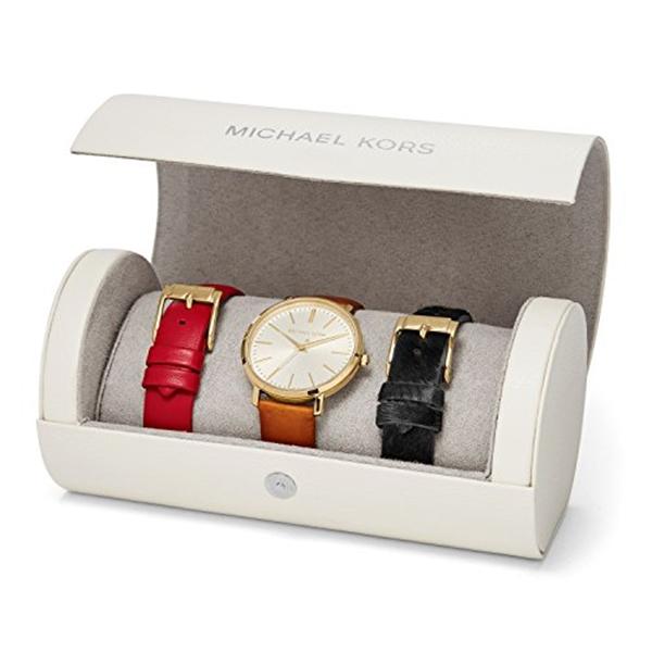 マイケルコース Michael Kors レディース 腕時計 時計 Michael Kors Jaryn Brown Leather Three Hand Watch Set