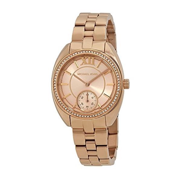 マイケルコース Michael Kors レディース 腕時計 時計 Michael Kors Dena Rose Gold Dial Ladies Gift Set MK3606