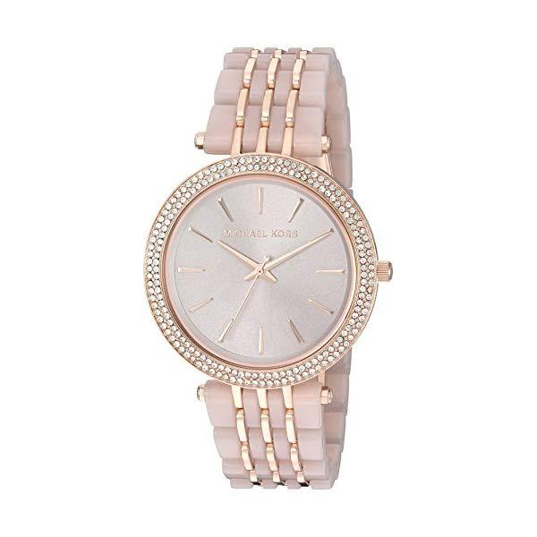 マイケルコース 時計 ウォッチ 腕時計 Michael Kors Darci Rose Goldtone and Blush Acetate Watch