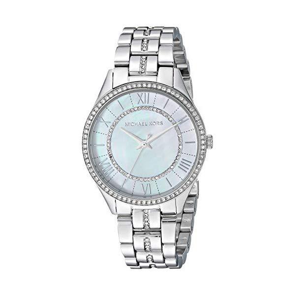 マイケルコース 時計 ウォッチ 腕時計 レディース 女性用 MK3900 Michael Kors Women's Lauryn Quartz Stainless-Steel Strap, Silver, 16 Casual Watch (Model: MK3900)
