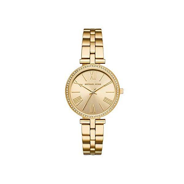 マイケルコース 時計 ウォッチ 腕時計 レディース 女性用 MK3903 Michael Kors Women's Maci Quartz Watch with Stainless-Steel-Plated Strap, Gold, 16 (Model: MK3903)