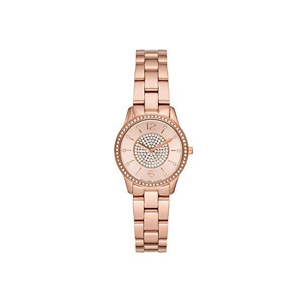 マイケルコース 時計 ウォッチ 腕時計 レディース 女性用 MK6619 Michael Kors Women's Runway Quartz Watch with Stainless-Steel-Plated Strap, Rose Gold, 14 (Model: MK6619)