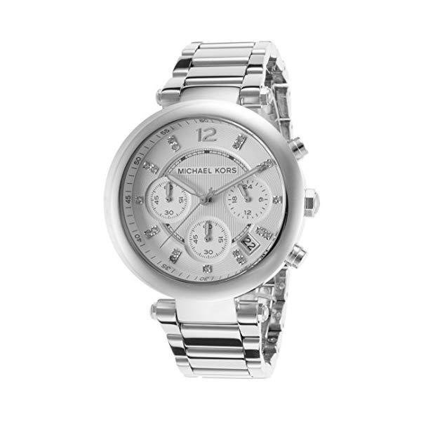 マイケルコース 時計 ウォッチ 腕時計 レディース 女性用 MK5275 Michael Kors MK5275 Women's Glitz Rare Silver Tone Stainless Steel Bracelet Chronograph Watch