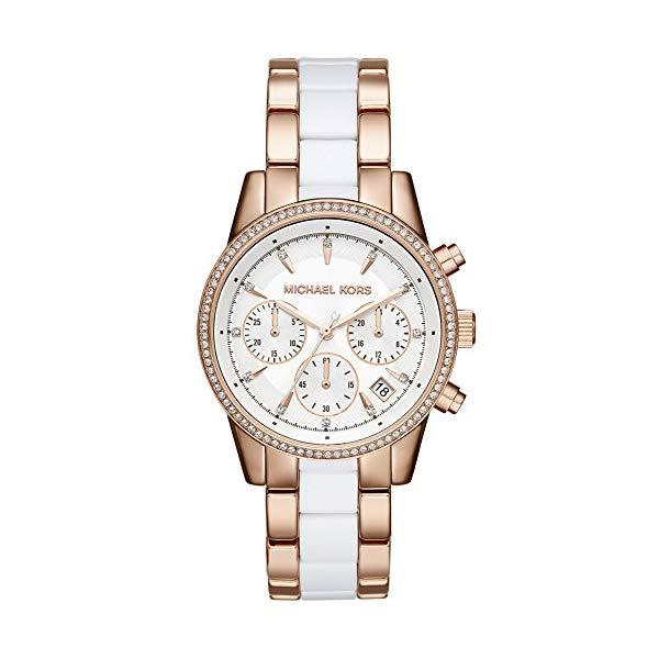 マイケルコース 時計 ウォッチ 腕時計 レディース 女性用 Michael Kors Women's Ritz Two-Tone Chronograph Watch