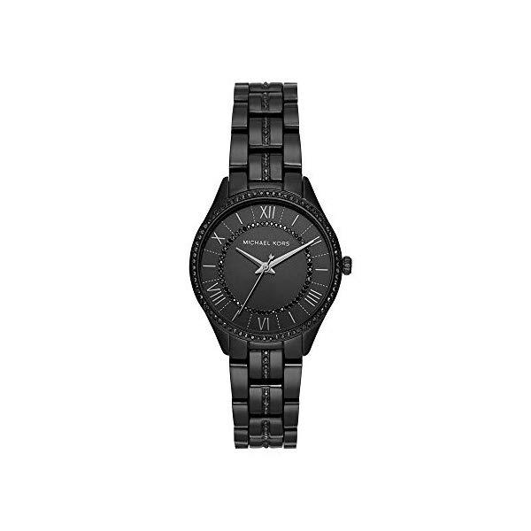 マイケルコース 時計 ウォッチ 腕時計 MK4337 Michael Kors Women Lauryn Quartz Stainless Steel Black with Black Dial Watch MK4337