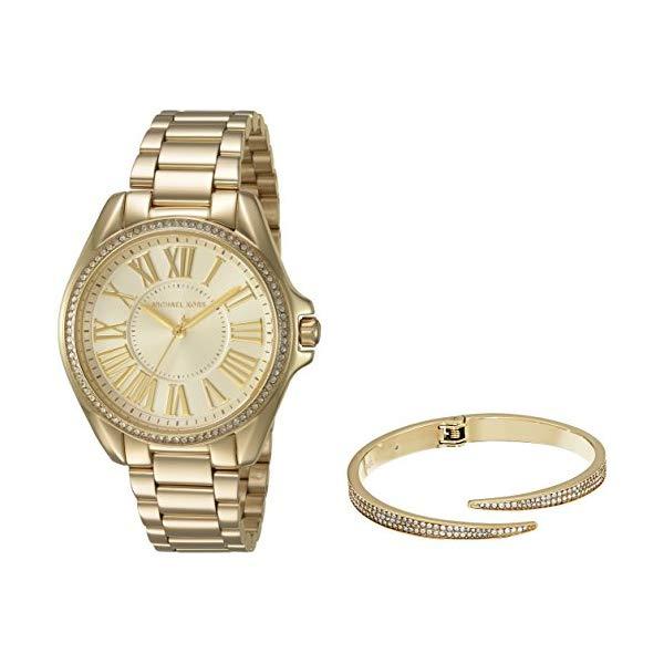 マイケルコース 時計 ウォッチ 腕時計 レディース 女性用 Michael Kors Women's Kacie Gold-Tone Watch and Bracelet Gift Set MK3568