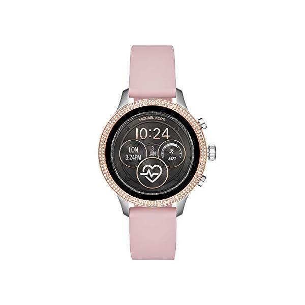マイケルコース 時計 ウォッチ 腕時計 レディース 女性用 スマートウォッチ MKT5055 Michael Kors Access Womens Runway Touchscreen Smartwatch Stainless Steel Leather watch, Pink, MKT5055