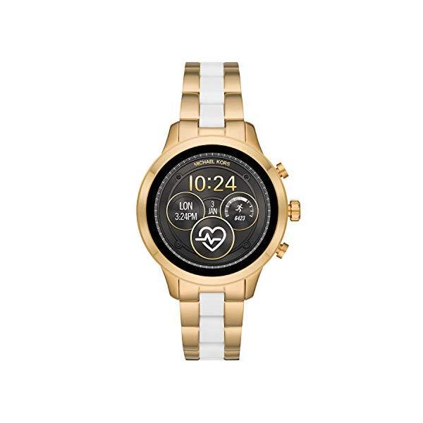マイケルコース 時計 ウォッチ 腕時計 レディース 女性用 スマートウォッチ MKT5057 Michael Kors Access Womens Runway Touchscreen Smartwatch Stainless Steel Bracelet watch, Two tone Gold tone and white, MKT5057