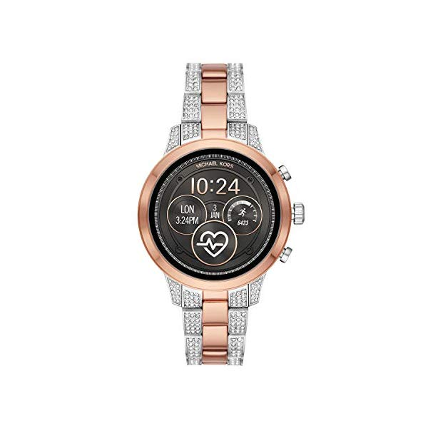 マイケルコース 時計 ウォッチ 腕時計 レディース 女性用 スマートウォッチ MKT5056 Michael Kors Access Womens Runway Touchscreen Smartwatch Stainless Steel Bracelet watch, Two tone Rose gold tone and silver, MKT5056