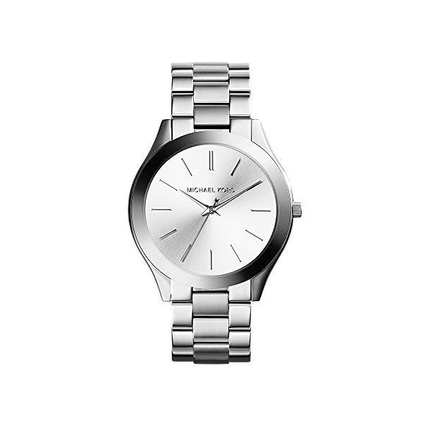 マイケルコース 時計 ウォッチ 腕時計 レディース 女性用 Michael Kors Women's 42mm Stainless Steel Slim Runway Bracelet Watch