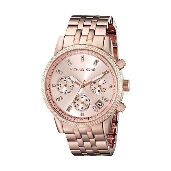 マイケルコース 時計 ウォッチ 腕時計 レディース 女性用 MK6077 Michael Kors Women's Ritz Rose Gold-Tone Watch MK6077