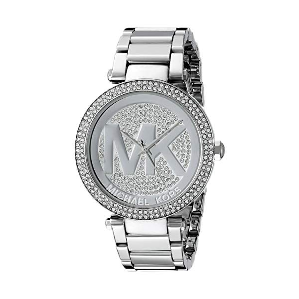マイケルコース 時計 ウォッチ 腕時計 Michael Kors Mid-Size Stainless Steel Parker Analog Glitz Watch