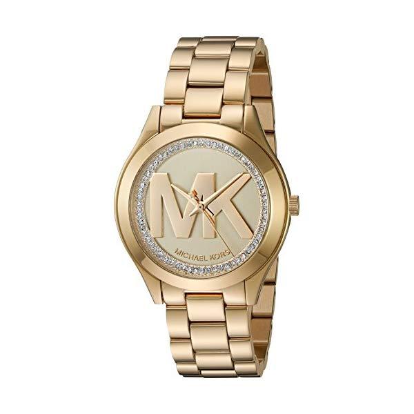 マイケルコース 時計 ウォッチ 腕時計 レディース 女性用 Michael Kors Women's Mini Slim Runway Goldtone Three-Hand Watch