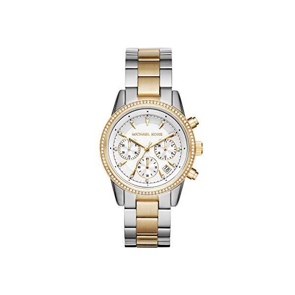 マイケルコース 時計 ウォッチ 腕時計 Michael Kors Ritz Two-Tone Chronograph Watch