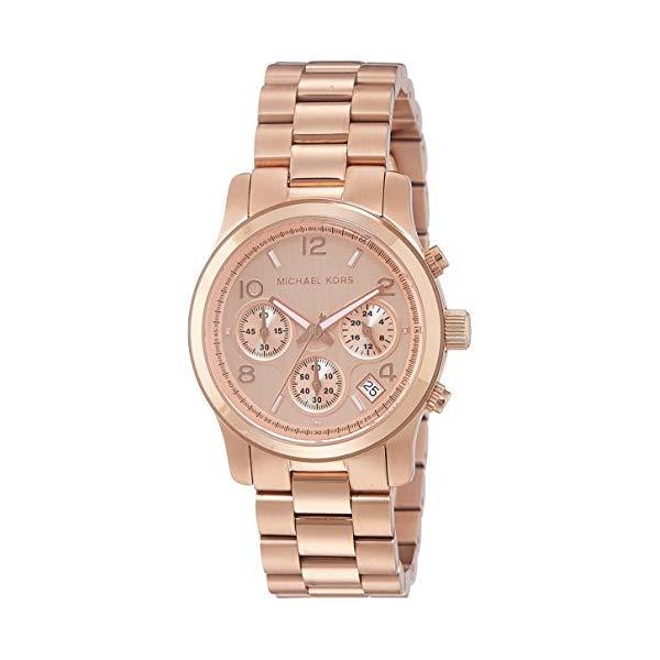 マイケルコース 時計 ウォッチ 腕時計 レディース 女性用 MK5128 Michael Kors Women's Runway Rose Gold-Tone Watch MK5128