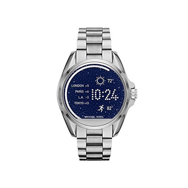 マイケルコース 時計 スマートウォッチ 腕時計 Michael Kors Access Unisex 45mm Silvertone Bradshaw Touchscreen Smart Watch