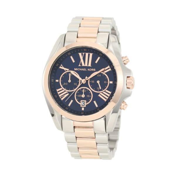 マイケルコース 時計 ウォッチ 腕時計 MK5606 Michael Kors Mid-Size Bradshaw Chronograph Watch, Silver-Color/Rose Golden MK5606