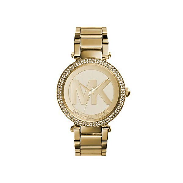 マイケルコース 時計 ウォッチ 腕時計 Michael Kors Goldtone Parker Watch with MK Logo On Dial