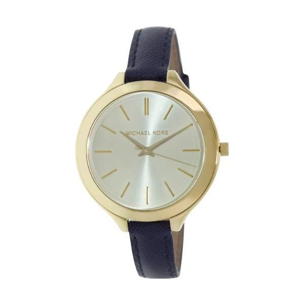 マイケルコース 時計 ウォッチ 腕時計 MK2285 Michael Kors Mid-Size Runway Gold-Tone Dial Blue Leather Ladies Watch MK2285