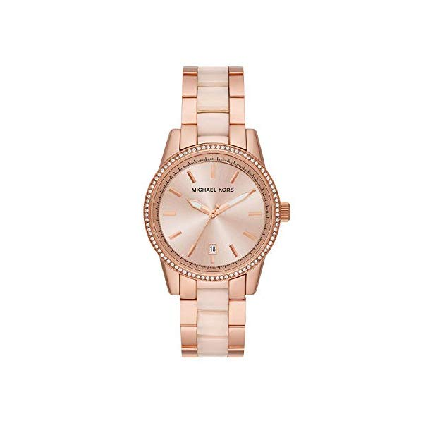 マイケルコース 時計 ウォッチ 腕時計 レディース 女性用 MK6349 Michael Kors Women's Ritz Rose Gold Tone Acetate and Stainless Steel Watch MK6349