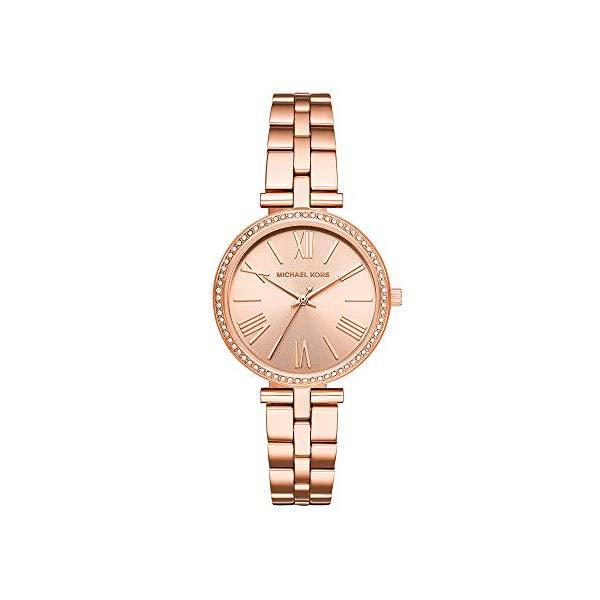 マイケルコース 時計 ウォッチ 腕時計 レディース 女性用 MK3904 Michael Kors Women's Maci Quartz Watch with Stainless-Steel-Plated Strap, Rose Gold, 16 (Model: MK3904)