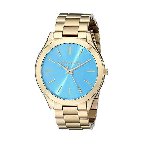 マイケルコース 時計 ウォッチ 腕時計 レディース 女性用 MK3265 Michael Kors MK3265 Women's Slim Runway Gold-Tone Stainless Steel Bracelet Watch