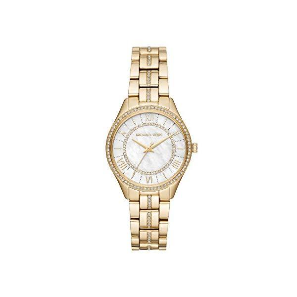 マイケルコース 時計 ウォッチ 腕時計 レディース 女性用 MK3899 Michael Kors Women's Lauryn Quartz Stainless-Steel Strap, Gold, 16 Casual Watch (Model: MK3899)