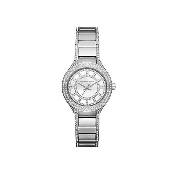 マイケルコース 時計 ウォッチ 腕時計 レディース 女性用 MK3441 Michael Kors Women's Mini Kerry Silver-Tone Watch MK3441