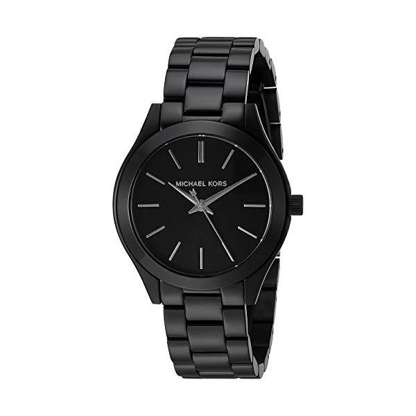 マイケルコース 時計 ウォッチ 腕時計 レディース 女性用 MK3587 Michael Kors Women's Mini Slim Runway Black Watch MK3587