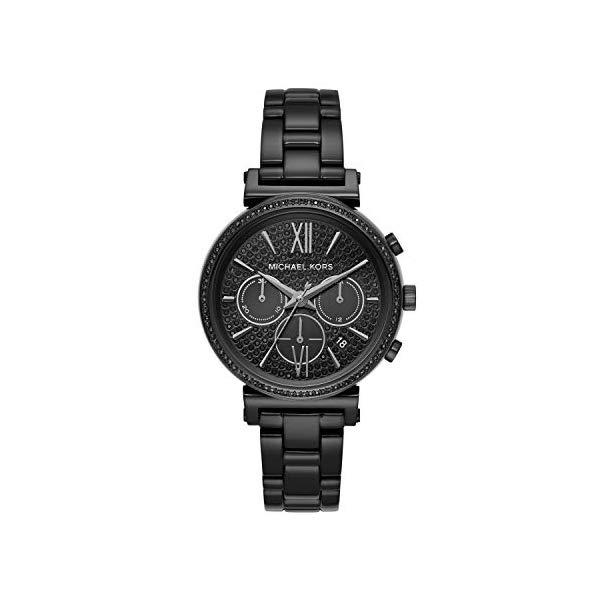 マイケルコース 時計 ウォッチ 腕時計 MK6632 Michael Kors Women Sofie Quartz Stainless Steel Black with Black Dial Watch MK6632