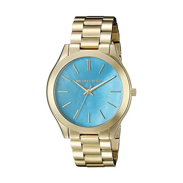 マイケルコース 時計 ウォッチ 腕時計 レディース 女性用 Michael Kors Womens Slim Runway Goldtone 3 Hand Watch