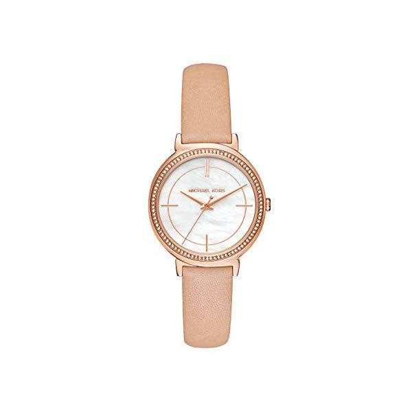 マイケルコース 時計 ウォッチ 腕時計 レディース 女性用 MK2713 Michael Kors Women's Cynthia Beige Leather Watch MK2713