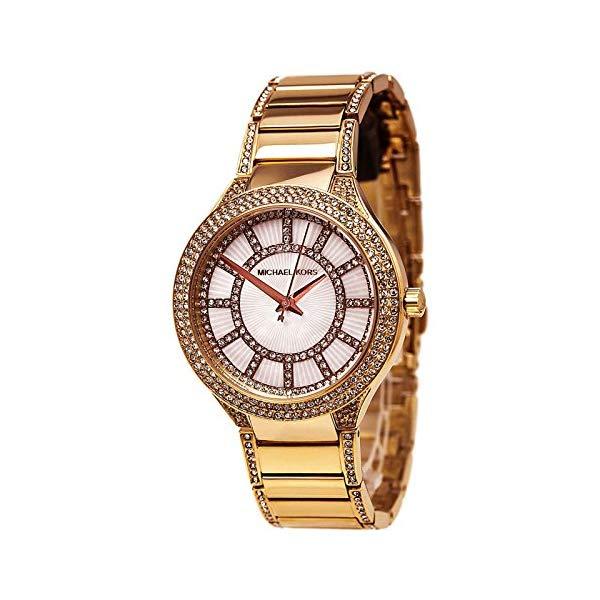 マイケルコース 時計 ウォッチ 腕時計 Michael Kors Kerry White Crystal Dial Crystal-Set Steel Ladies Watch