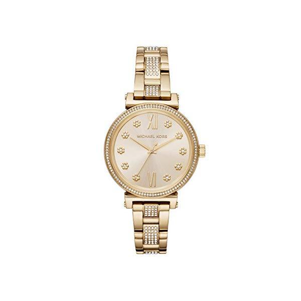 マイケルコース 時計 ウォッチ 腕時計 レディース 女性用 MK3881 Michael Kors Women's Sofie Quartz Stainless-Steel Strap, Gold, 14 Casual Watch (Model: MK3881)