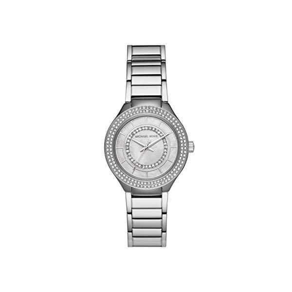 マイケルコース 時計 ウォッチ 腕時計 レディース 女性用 Michael Kors Women's Silvertone Round Face Kerry Watch
