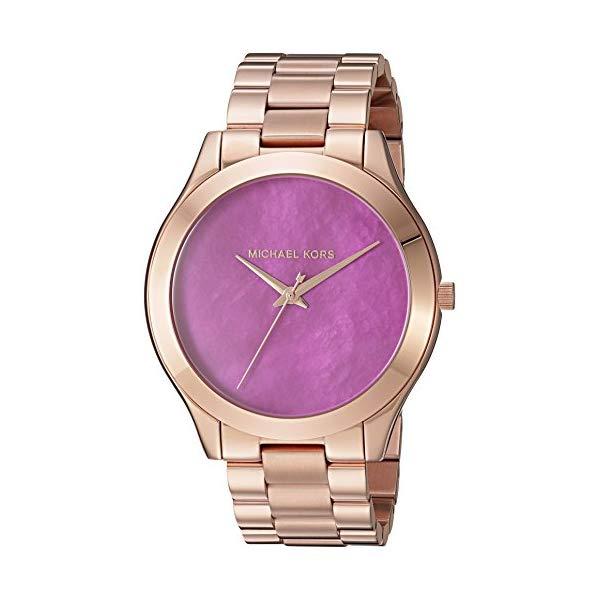 マイケルコース 時計 ウォッチ 腕時計 レディース 女性用 Michael Kors Women's Slim Runway Rose Goldtone Three Hand Watch
