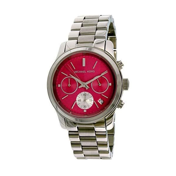 マイケルコース 時計 ウォッチ 腕時計 レディース 女性用 Michael Kors Women's Runway Watch, Silver/Pink, One Size