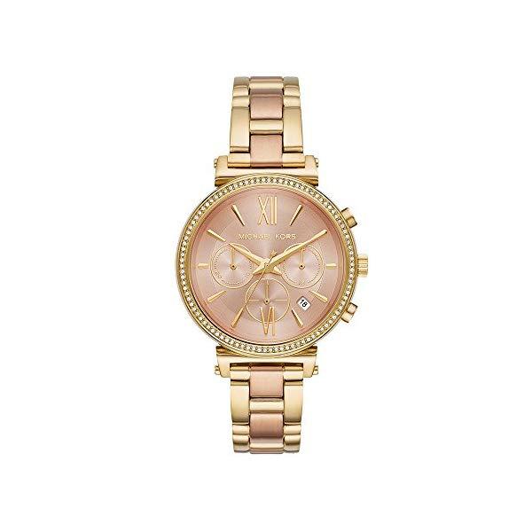 マイケルコース 時計 ウォッチ 腕時計 MK6584 Michael Kors Women Sofie Quartz Stainless Steel Gold with Rose Gold Dial Watch MK6584