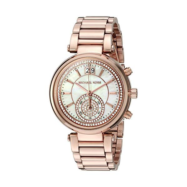 マイケルコース 時計 ウォッチ 腕時計 レディース 女性用 MK6282 Michael Kors Women's Sawyer Rose Gold-Tone Watch MK6282