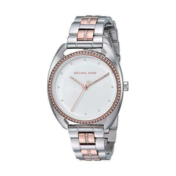 マイケルコース 時計 ウォッチ 腕時計 レディース 女性用 Michael Kors Women's 38mm Libby Rose Two-Tone Pav Analog Bracelet Watch