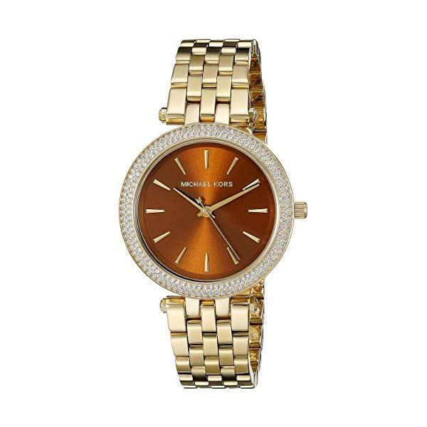 マイケルコース 時計 ウォッチ 腕時計 レディース 女性用 Michael Kors Women's Goldtone Mini Darci Watch with an Amber Dial