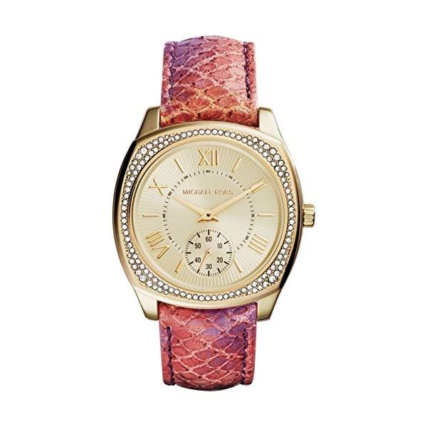 マイケルコース 時計 ウォッチ 腕時計 Michael Kors Watches Bryn Multifunction Leather Watch (Orange)