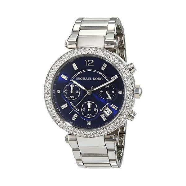 マイケルコース 時計 ウォッチ 腕時計 MK6117 Michael Kors MK6117 Ladies Parker Navy Blue Steel Chronograph Watch