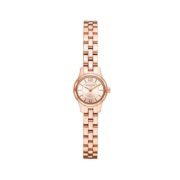 マイケルコース 時計 ウォッチ 腕時計 レディース 女性用 MK6593 Michael Kors Women's Runway Quartz Watch with Stainless-Steel-Plated Strap, Rose Gold, 8 (Model: MK6593)