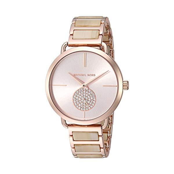 マイケルコース 時計 ウォッチ 腕時計 レディース 女性用 Michael Kors Women's 36mm Rose Goldtone Pav= Acetate Bracelet Watch